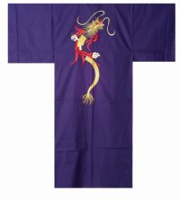 SHINKAENRYU - Dragon of Flame (embroidery) - (MEN: Cotton KIMONO)
