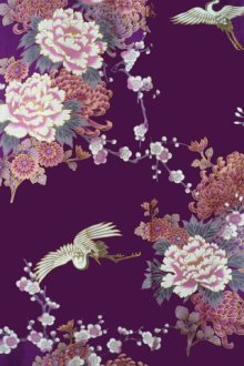 OTHER IMAGES1: KIKUBOTAN - Flying Crane and Peony - (WOMEN: Cotton HAPPI)