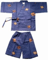 HISHIMOJI - Diamond Patterns - (KIDS: Cotton JINBEI)