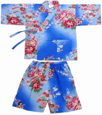 BOKASHI NINGYOU - Doll in flowers - (KIDS: Cotton JINBEI)
