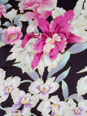 Photo4: Special Offer!  Japanese Silk Stole - RAN -