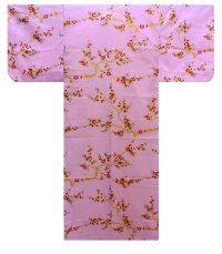 KIN UME - Golden Plum  - (WOMEN: Cotton YUKATA)