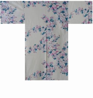 Photo3: SAKURA - Cherry Blossoms - (WOMEN: Cotton HAPPI)
