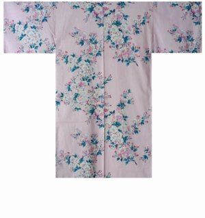 Photo2: SAKURA - Cherry Blossoms - (WOMEN: Cotton HAPPI)