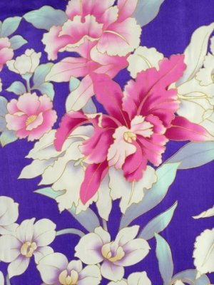 Photo5: Special Offer!  Japanese Silk Stole - RAN -