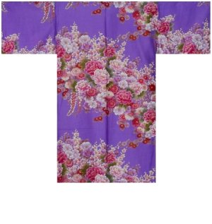 Photo3: FUJIUME - Thousands of Flowers - (WOMEN: Cotton HAPPI)