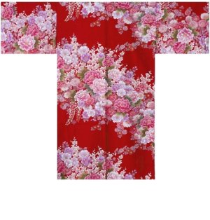 Photo5: FUJIUME - Thousands of Flowers - (WOMEN: Cotton HAPPI)