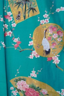 OTHER IMAGES1: KINTSURU - Beautiful Crane - (WOMEN: Cotton KIMONO)