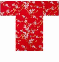 CHOUCHOU - Cherry Blossoms and Butterfly - (WOMEN: Cotton HAPPI)