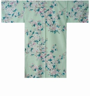 Photo1: SAKURA - Cherry Blossoms - (WOMEN: Cotton HAPPI)