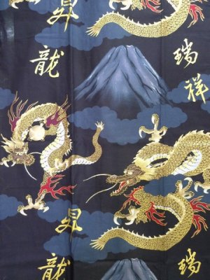 Photo4: FUJI RYU - Dragon on Mt.Fuji - (MEN: Cotton HAPPI)