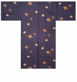 Photo3: HISHIMOJI - Diamond Patterns - (MEN: Cotton HAPPI)