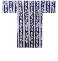 AKITSUKI - KANJI on Stripes - (MEN: Cotton HAPPI)