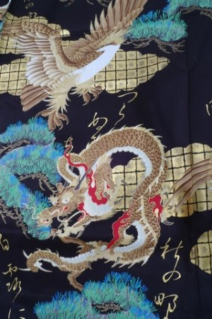 Photo4: RYUWASHI - Dragon and Eagle - (MEN: Cotton HAPPI)