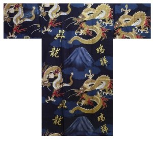 Photo3: FUJI RYU - Dragon on Mt.Fuji - (MEN: Cotton HAPPI)