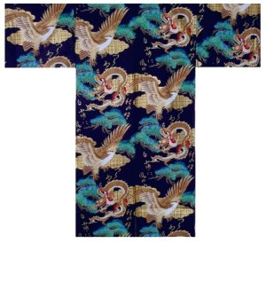 Photo3: RYUWASHI - Dragon and Eagle - (MEN: Cotton HAPPI)