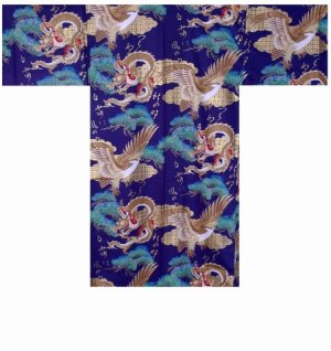 Photo1: RYUWASHI - Dragon and Eagle - (MEN: Cotton HAPPI)