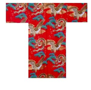 Photo2: RYUWASHI - Dragon and Eagle - (MEN: Cotton HAPPI)