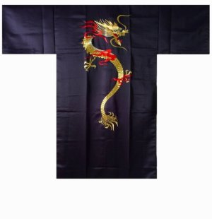 Photo3: KAENRYU - flare Dragon (embroidery) - (MEN: Polyester HAPPI)