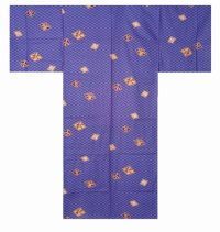 Special Offer!  HISHIMOJI (blue) (MEN: Cotton YUKATA)