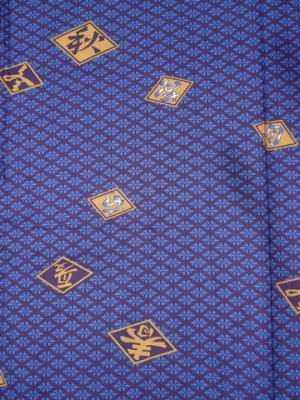 Photo2: HISHIMOJI - Diamond Patterns - (MEN: Cotton HAPPI)