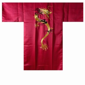 Photo2: KAENRYU - flare Dragon (embroidery) - (MEN: Polyester HAPPI)