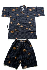 HISHIMOJI - Diamond Pattern - (MEN: Cotton JINBEI)