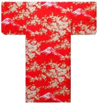 SAKURA FUJI - Beautiful Mt. Fuji - (WOMEN: Cotton YUKATA)