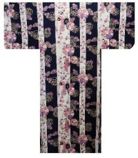 SHIMA TACHISUGATA - Geisha Beauty on Stripe - (WOMEN: Cotton YUKATA)