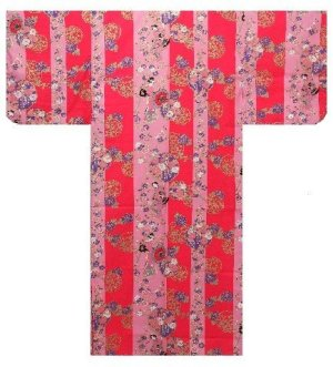 Photo3: SHIMA TACHISUGATA - Geisha Beauty on Stripe - (WOMEN: Cotton YUKATA)