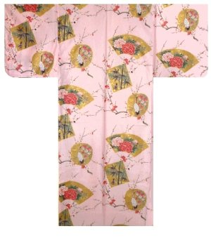 Photo5: KINTSURU - Beautiful Crane - (WOMEN: Cotton KIMONO)