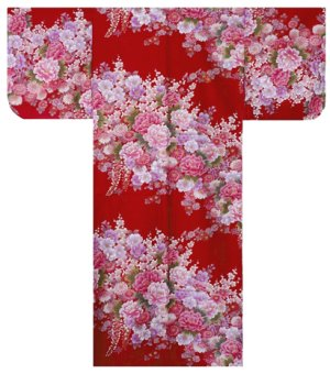 Photo5: FUJIUME - Thousands of Flowers - (WOMEN: Cotton KIMONO)