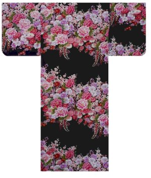 Photo4: FUJIUME - Thousands of Flowers - (WOMEN: Cotton KIMONO)