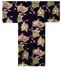 KINTSURU - Beautiful Crane - (WOMEN: Cotton KIMONO)