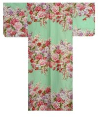FUJIUME - Thousands of Flowers - (WOMEN: Cotton KIMONO)