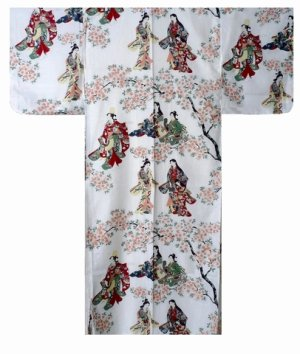 Photo4: HANAMI - bloom gazing - (WOMEN: Cotton KIMONO)