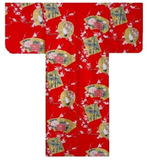 Photo4: KINTSURU - Beautiful Crane - (WOMEN: Cotton KIMONO)