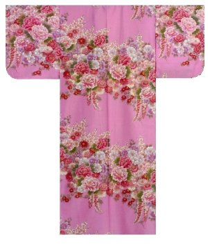 Photo3: FUJIUME - Thousands of Flowers - (WOMEN: Cotton KIMONO)