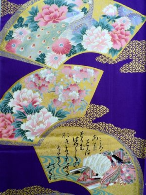 Photo2: COMON SENMEN - Golden Fan - (WOMEN: Cotton KIMONO)
