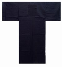 Solid Black - (Kuro Muji) - (MEN: Cotton KIMONO)
