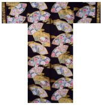 COMON SENMEN - Golden Fan - (WOMEN: Cotton KIMONO)