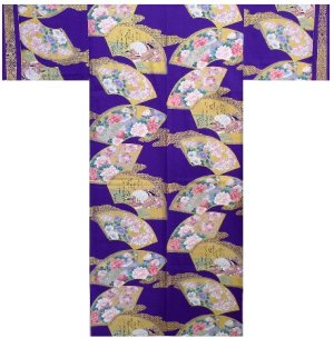 Photo1: COMON SENMEN - Golden Fan - (WOMEN: Cotton KIMONO)